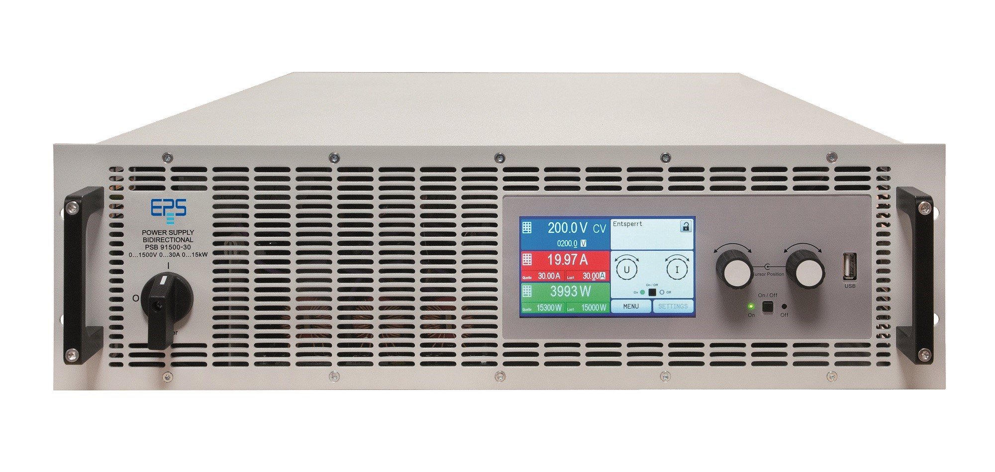 E/PSB 9000-3U Bidirectional DC-Power Supply with energy recovery 5-240 kW