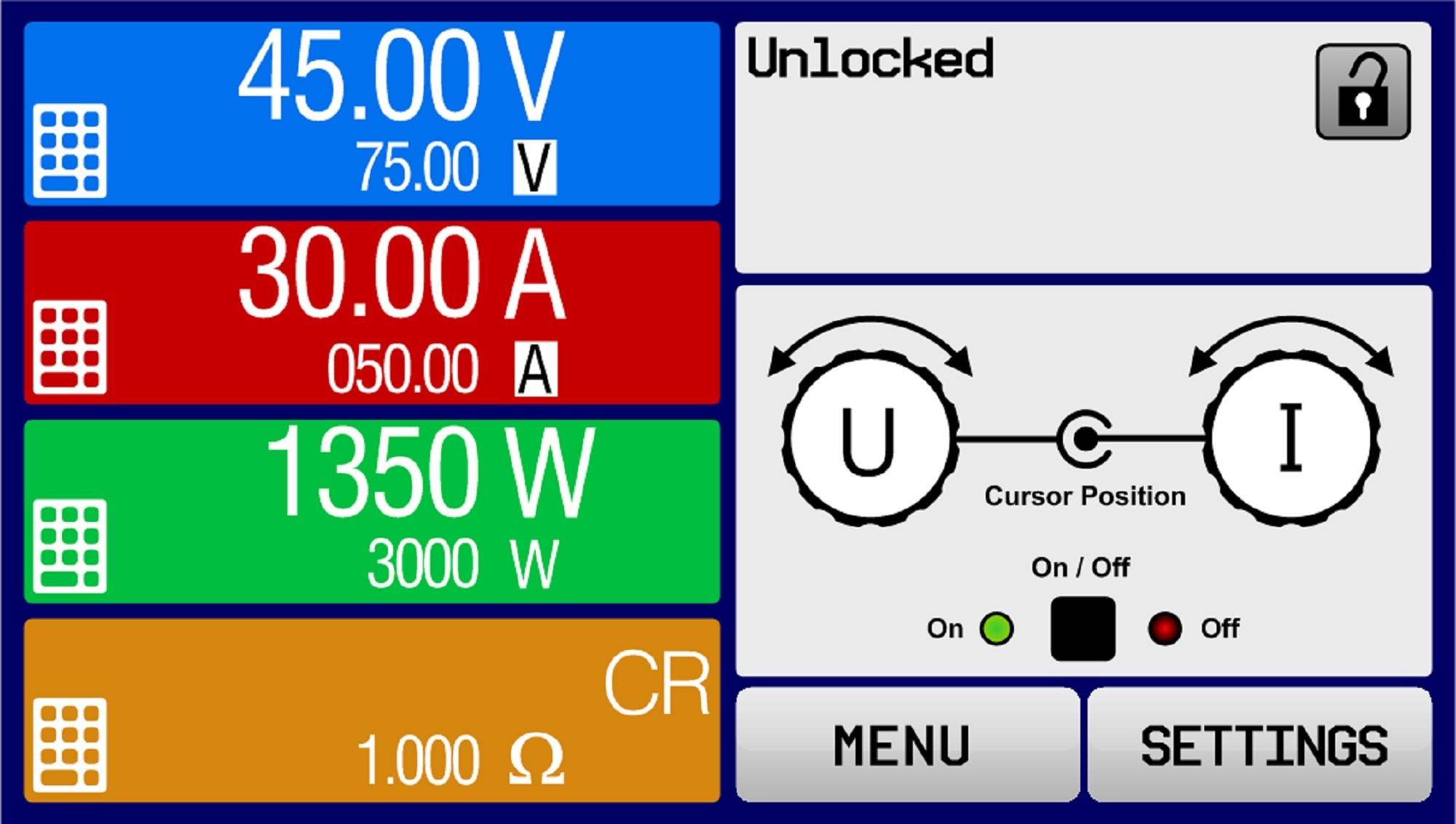 E/PSB 9080-120 3U Bidirektionales DC-Netzgerät+Netzrückspeisung